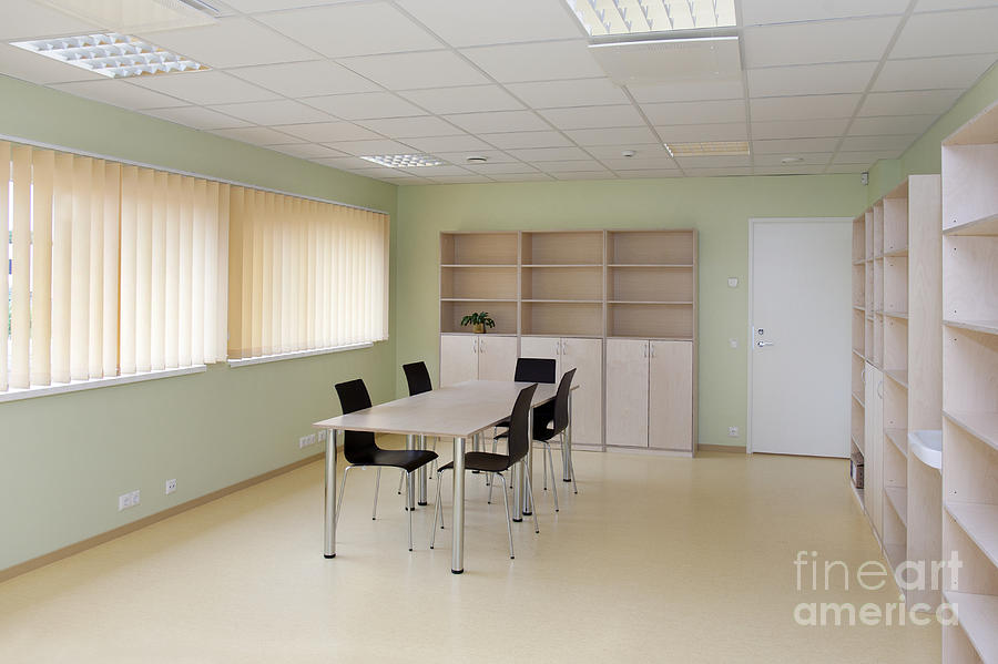 Architectural Detail Photograph - Empty School Classroom by Jaak Nilson
