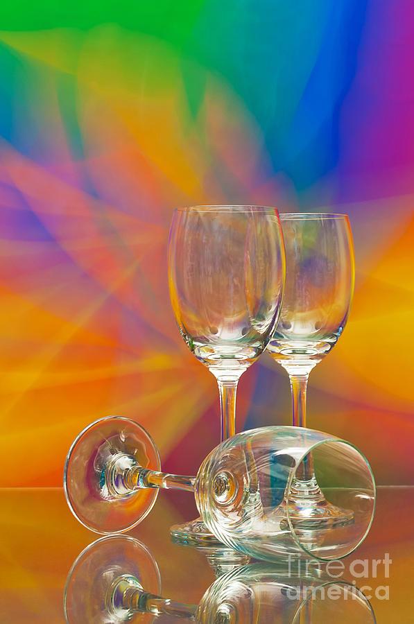 Alcohol Photograph - Empty Wine Glass by Anuwat Ratsamerat