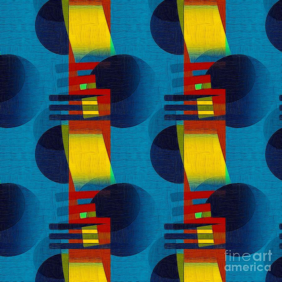 Abstract Digital Art - En Formes 01f by Aimelle