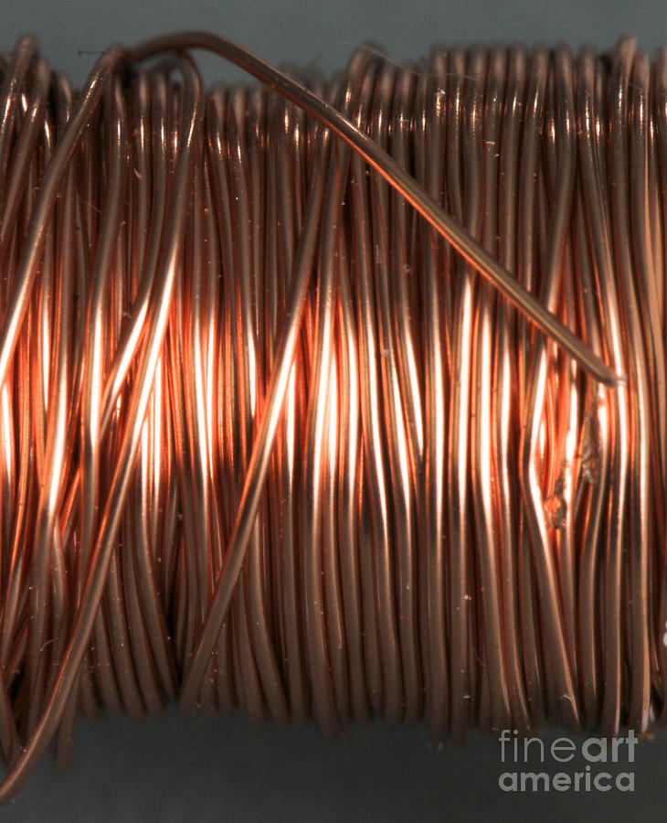 Coil Photograph - Enamel Coated Copper Wire by Photo Researchers