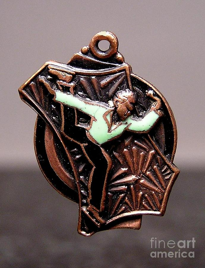 Ice Skating Jewelry - Enamels 17a by Dwight Goss