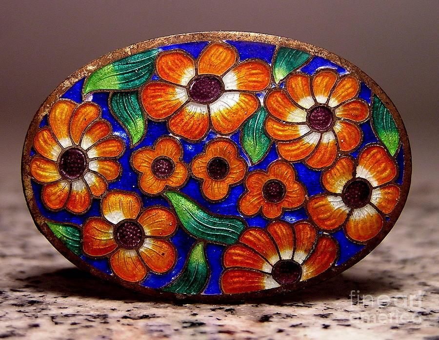Floral Jewelry - Enamels 57 by Dwight Goss
