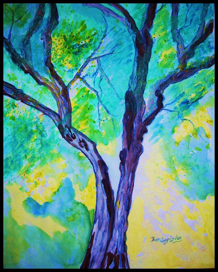 Two Painting - Enbracing Trees by Peggy Leyva Conley