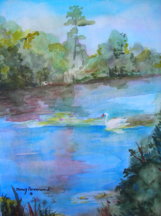 Landscape Painting - Enchanted Lake by Nancy Brennand