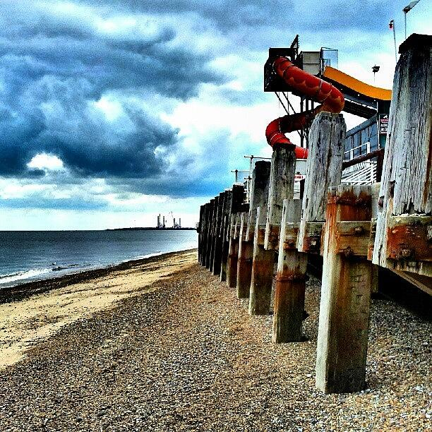 Blue Photograph - End Of Britannia Pier #wood #pier by Invisible Man