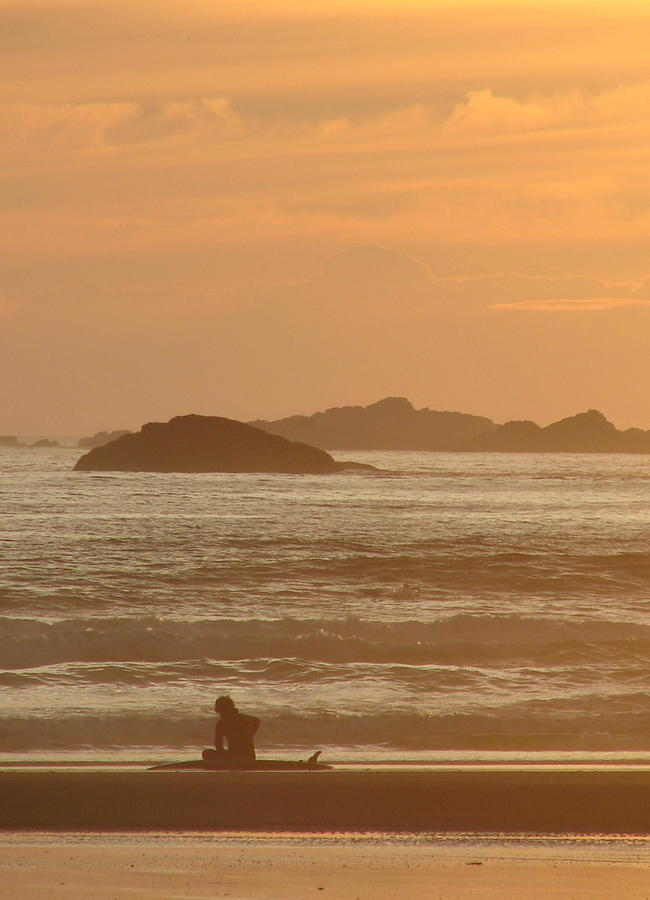 Surfer Photograph - End Of Day by Ramona Johnston