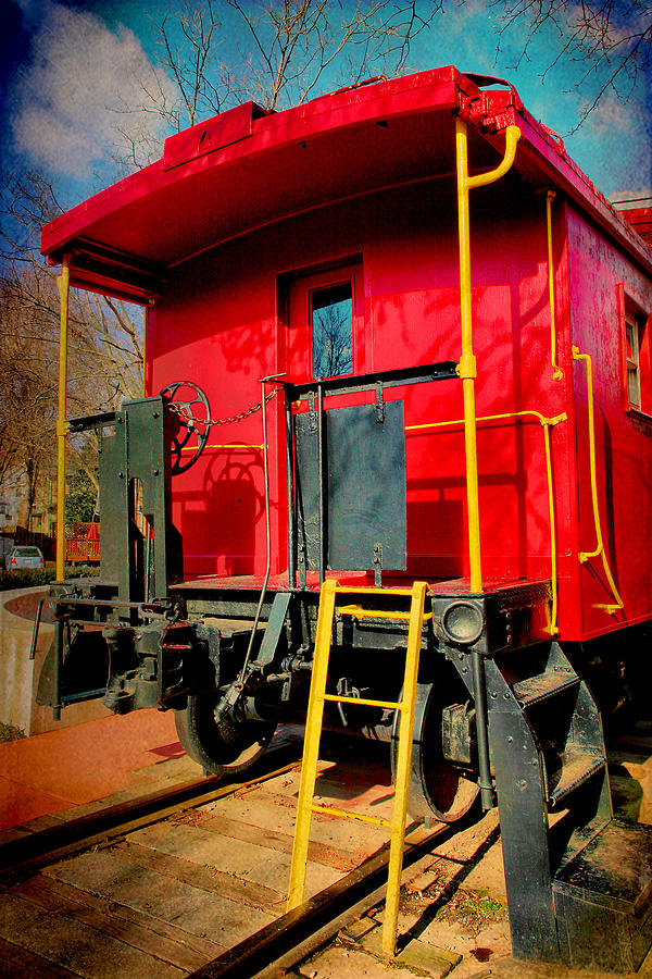 Caboose Photograph - End Of The Line by Steven Ainsworth
