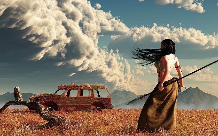 Peak Oil Digital Art - End Of The Road by Daniel Eskridge