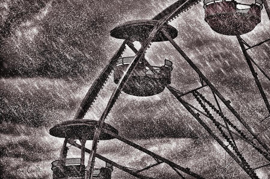 Ferris Wheel Photograph - End Of The Season by Bob Orsillo