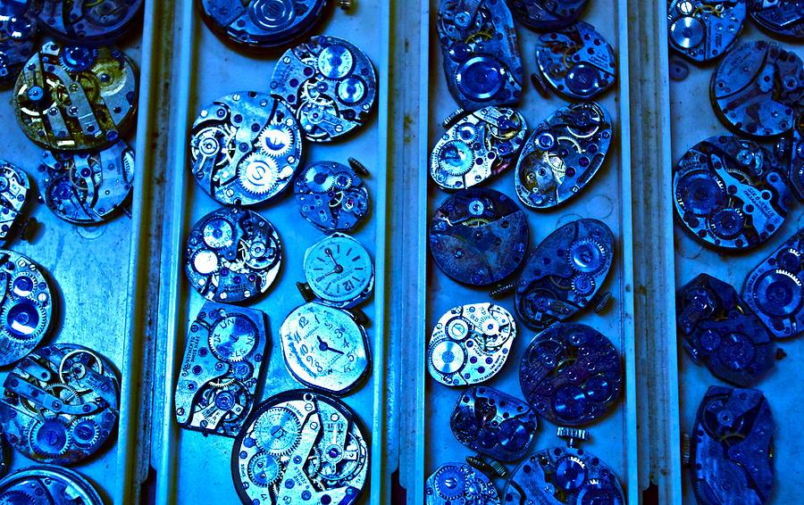 Blue Photograph - End Of Time Blues by Frank SantAgata
