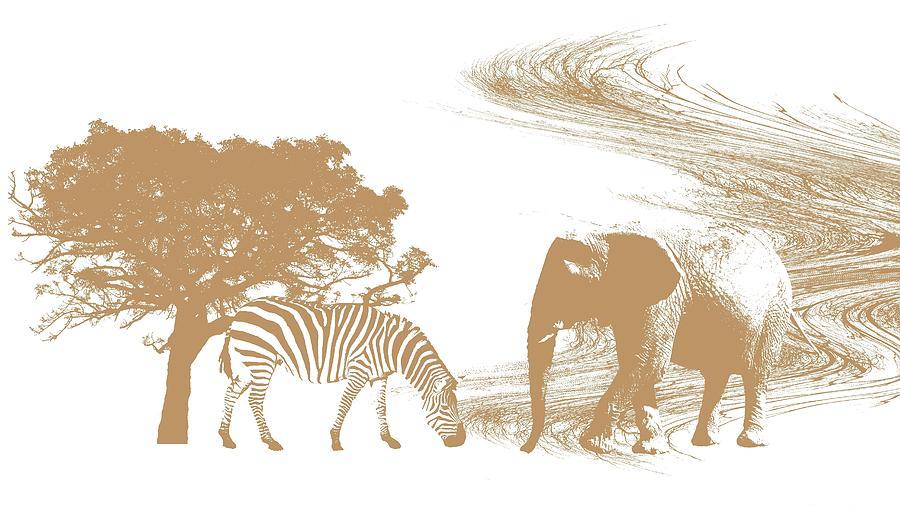 Elephants Photograph - Endangered by Sharon Lisa Clarke