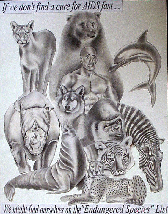 Portraits Drawing - Endangered Species by Rick Hill