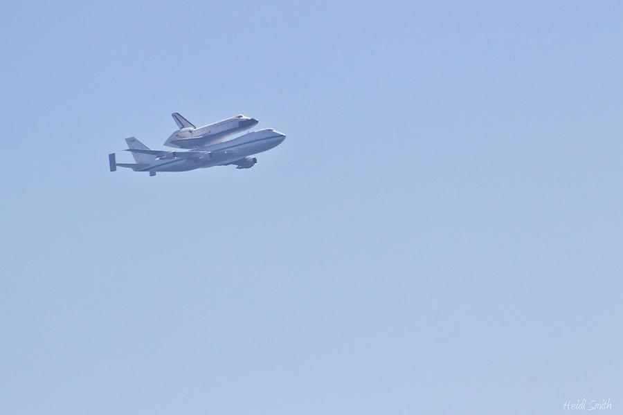 Space Photograph - Endeavour Flyover by Heidi Smith