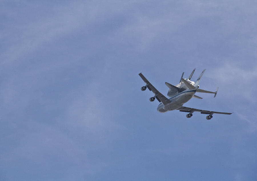 Endeavour Photograph - Endeavours Last Flight by Molly Heng