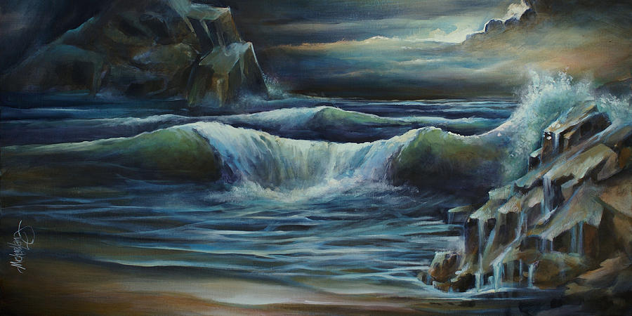Seascape Painting - endless by Michael Lang