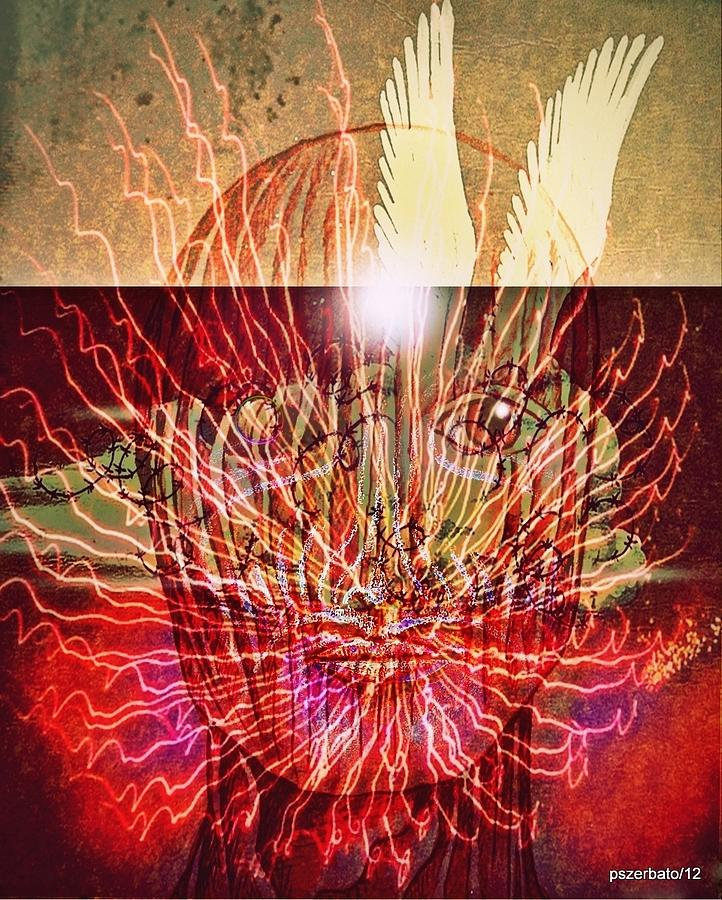 Overflow Digital Art - Endogenous Factors Are Bursting Of Great Lessons by Paulo Zerbato