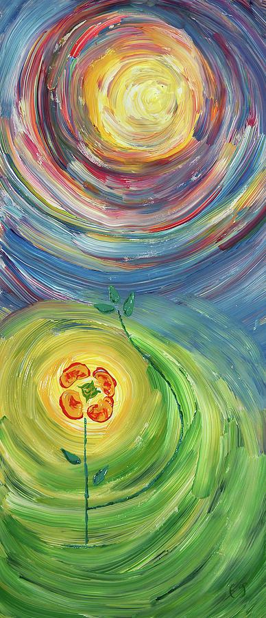 Energy Painting - Energy Flower by Erik Tanghe