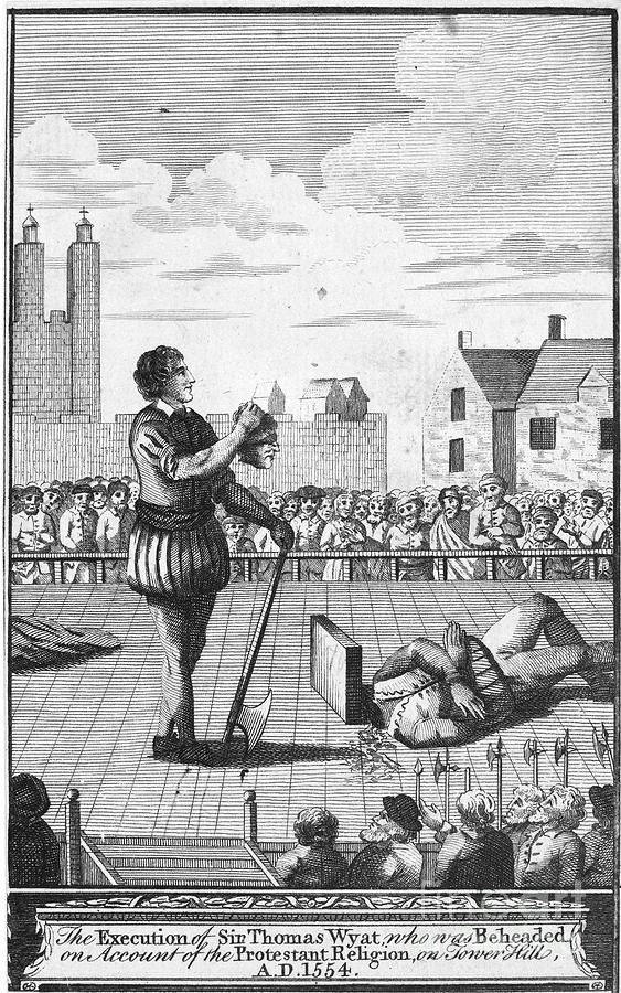 1554 Photograph - England: Beheading, 1554 by Granger