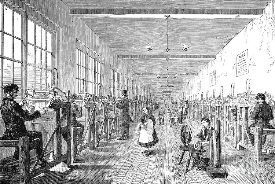 England Textile Mill Photograph By Granger
