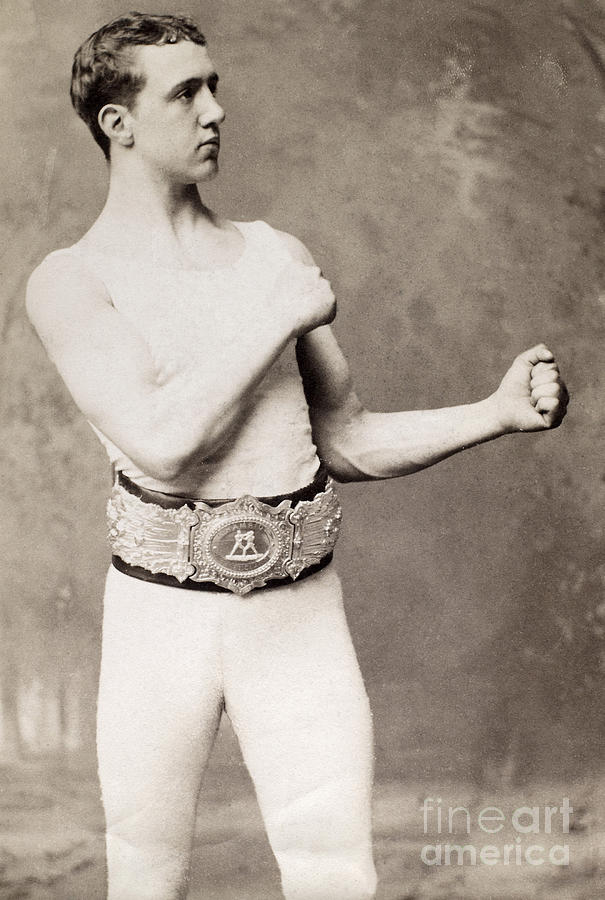 1883 Photograph - English Boxer, C1883 by Granger