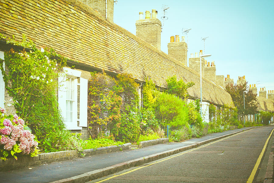 Anglia Photograph - English Cottages by Tom Gowanlock