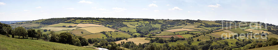 Agricultural Photograph - English Countryside Panorama by Jane Rix