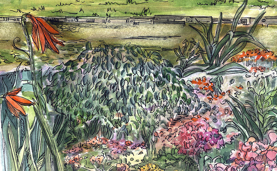 English Painting - English Garden by Mindy Newman