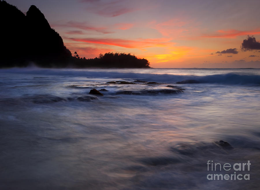 Tunnels Beach Photograph - Engulfed By The Sea by Mike  Dawson