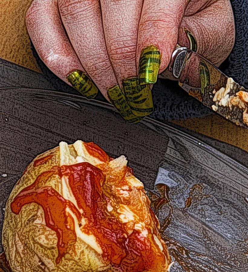 Potato Photograph - Enjoy by Barry Hayton