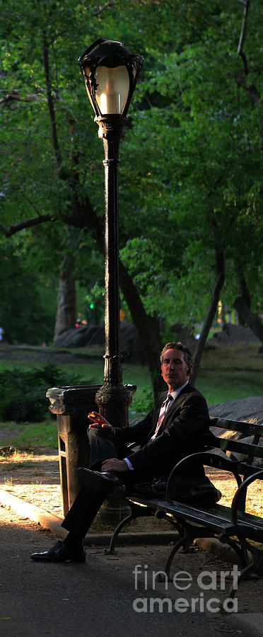 Handsome Photograph - Enjoying The Moment In Central Park II by Lee Dos Santos