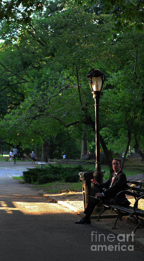 Handsome Photograph - Enjoying The Moment In Central Park by Lee Dos Santos