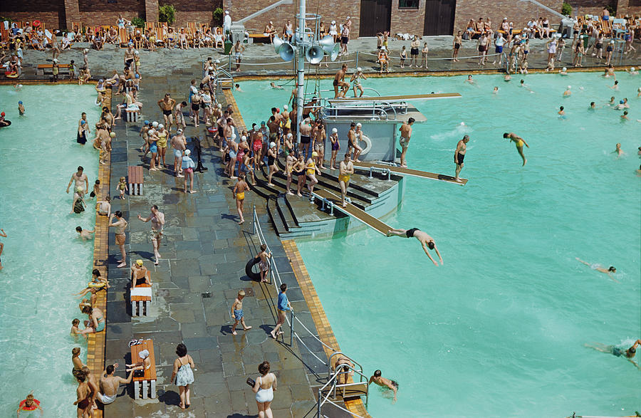 Day Photograph - Enjoying The Pool At Jones Beach State by B. Anthony Stewart
