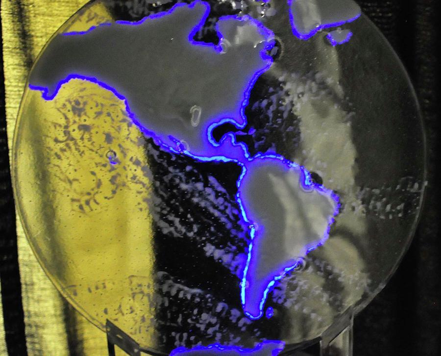 Earth Glass Art - Enlightened - Dark by Michelle Ferry