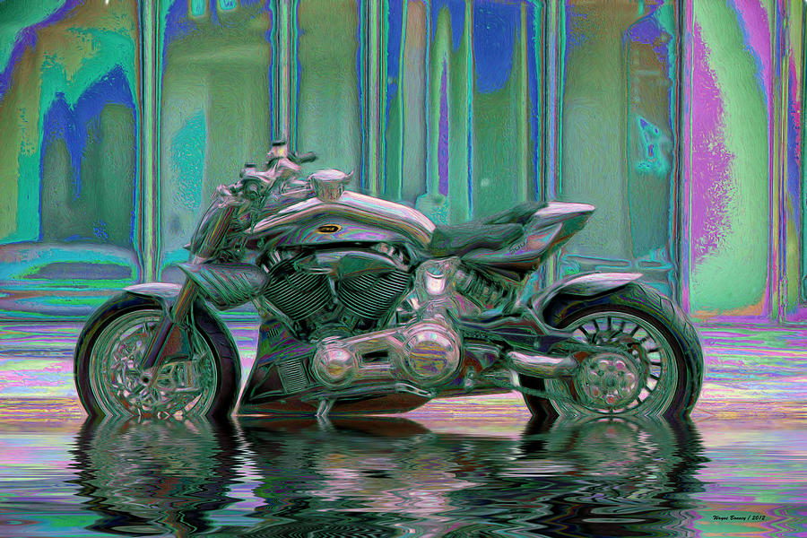 Rain Painting - Enough Rain Already by Wayne Bonney
