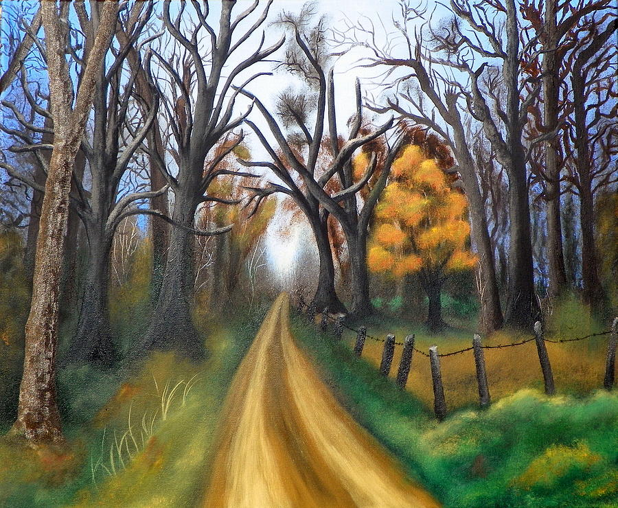 Trees Painting - Entangled by Amity Traylor