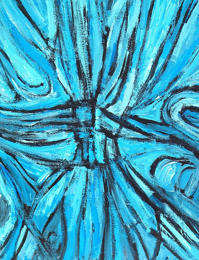 Abstract Line Pattern Painting - Entangled Cross by Kazuya Akimoto