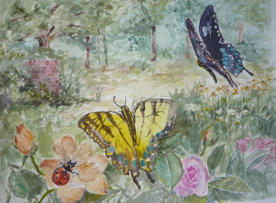 Painting - Enter The Garden by Dorothy Herron