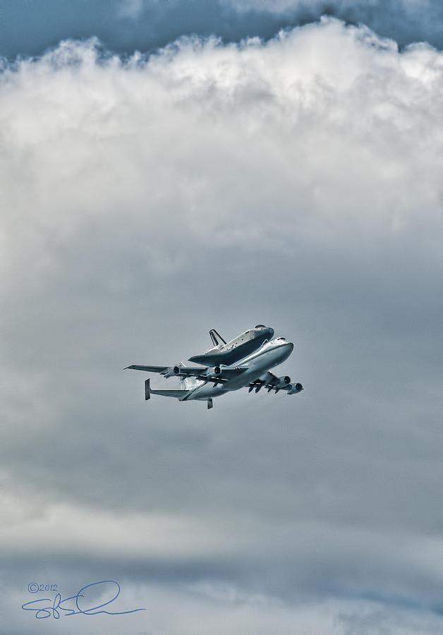 Shuttle Photograph - Enterprise 4 by S Paul Sahm