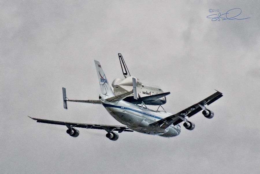 Shuttle Photograph - Enterprise 7 by S Paul Sahm