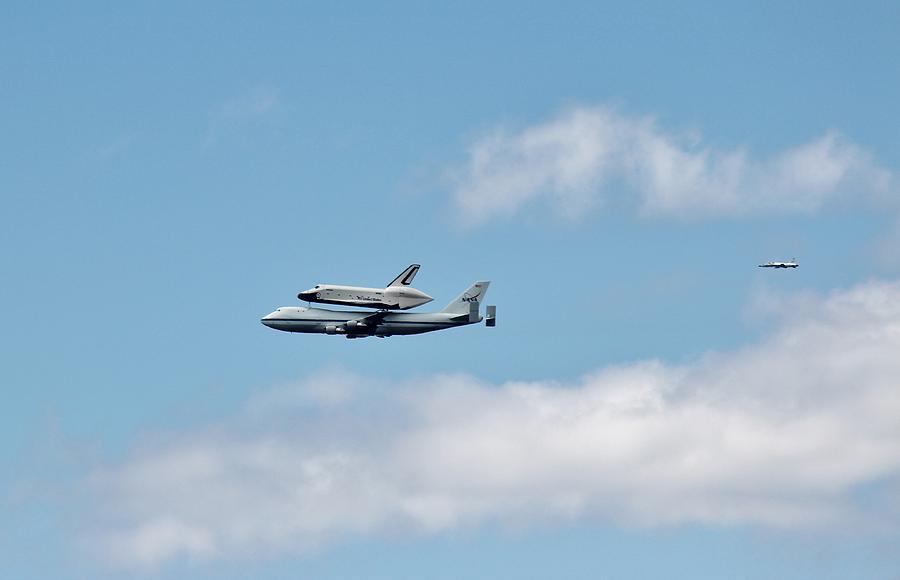 Enterprise Photograph - Enterprise Flyby by Rita Tortorelli
