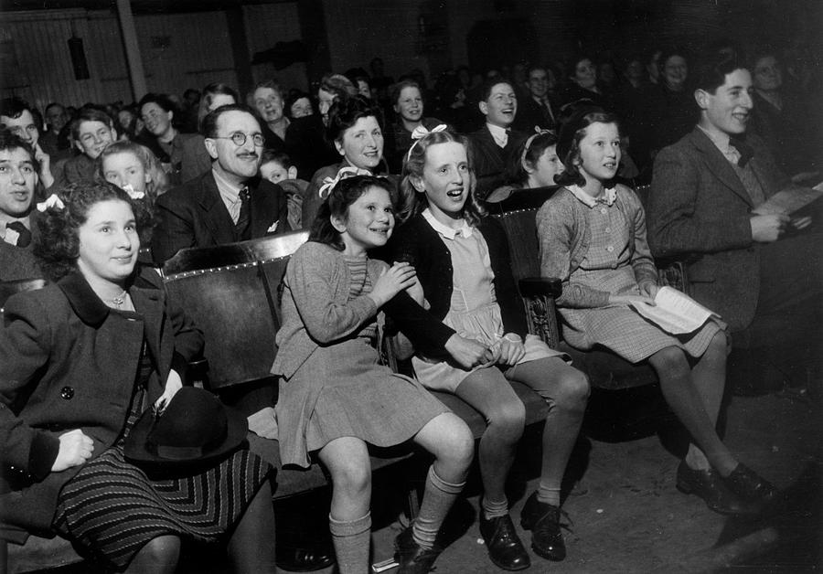 Horizontal Photograph - Enthralled Audience by Kurt Hutton