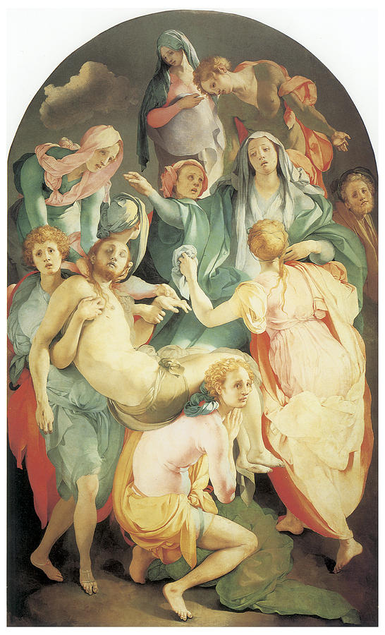 Jacopo Da Pontormo Painting - Entombment by Jacopo Da Pontormo