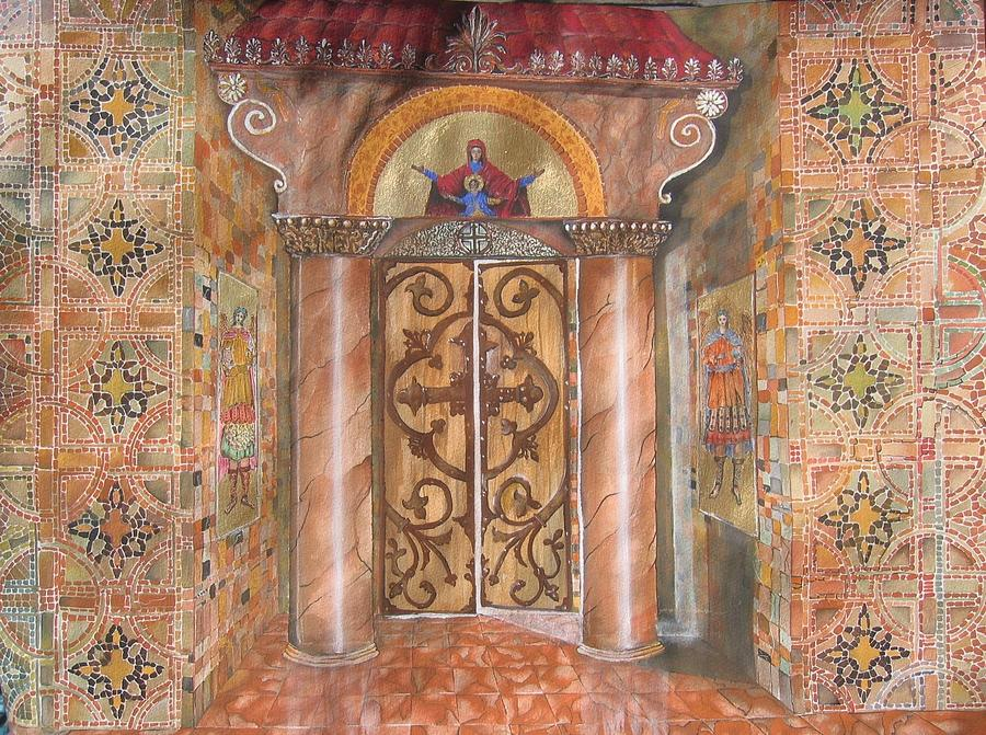 Greek Painting - Entrance by Constantinos Louca