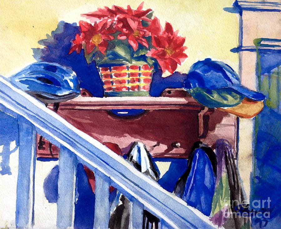 Watercolour Painting - Entrance by Mike N