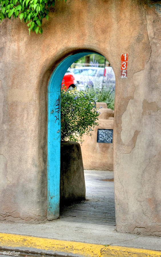Pueblo Photograph - Entrance by Stellina Giannitsi