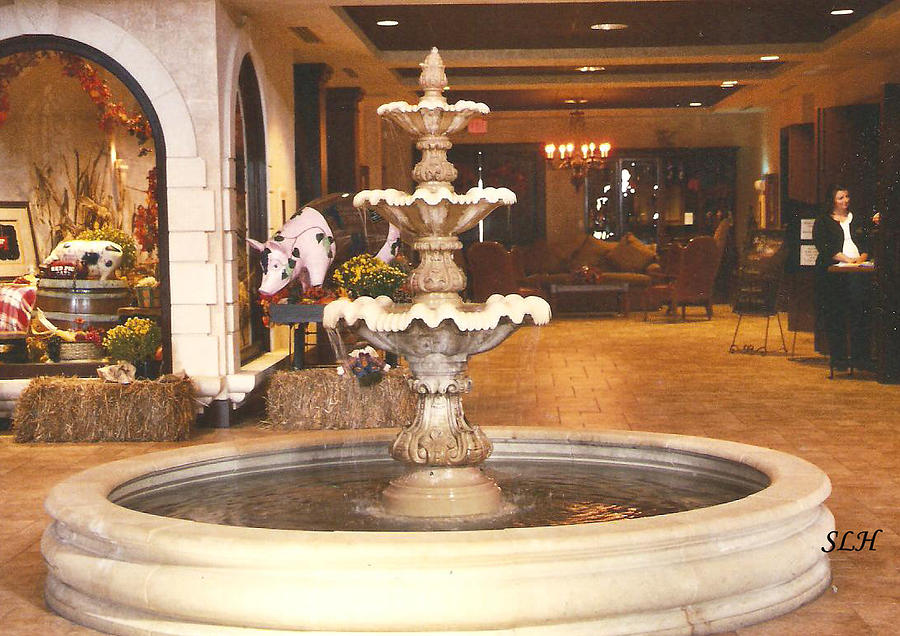 Fountain Photograph - Entrance To Childress Vineyards by Lee Hartsell