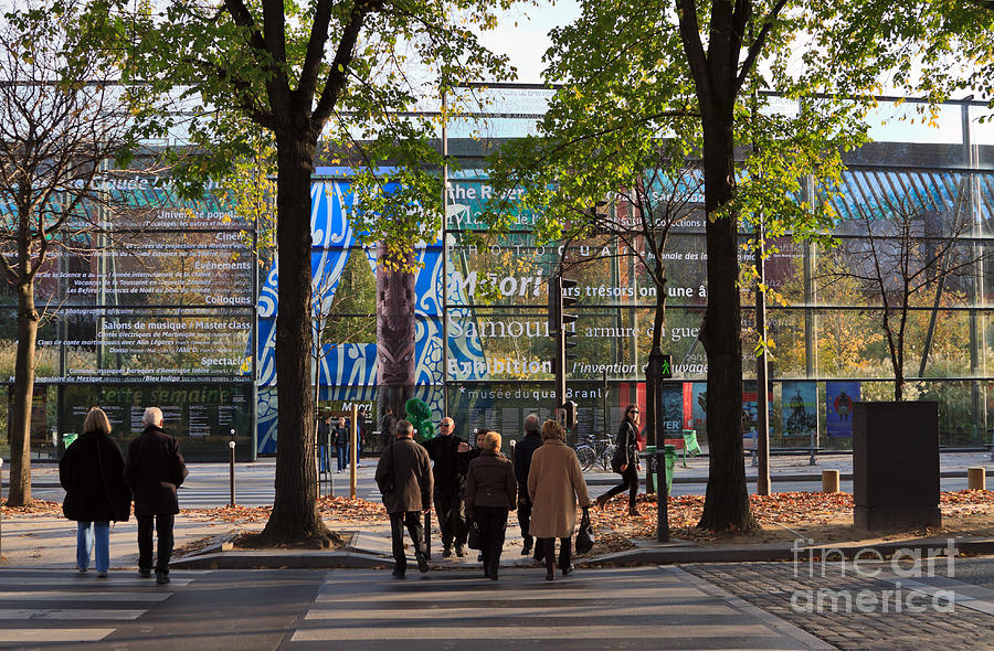 Museum Photograph - Entrance To Musee Branly In Paris In Autumn by Louise Heusinkveld