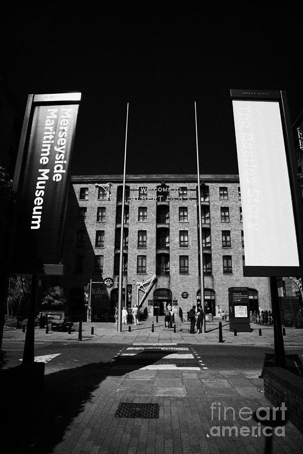 Albert Photograph - Entrance To The Albert Dock And Beatles Museum Liverpool Merseyside England Uk by Joe Fox