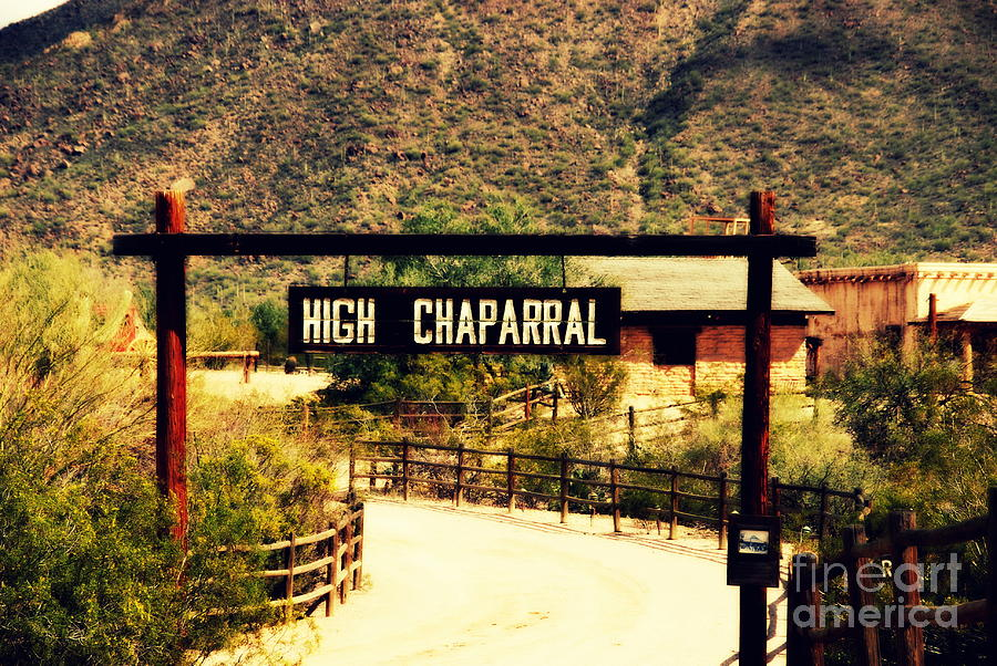 High Chaparral Photograph - Entrance To The High Chaparral Ranch by Susanne Van Hulst