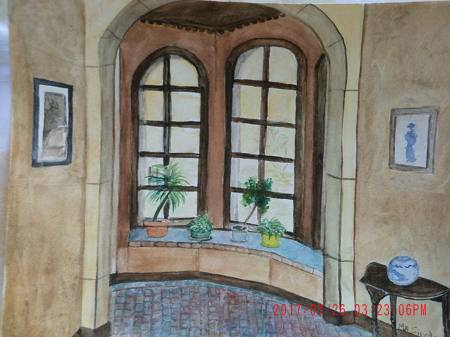 Interior Painting - entry to the garden at Holloway house by Mary ann  Snyder